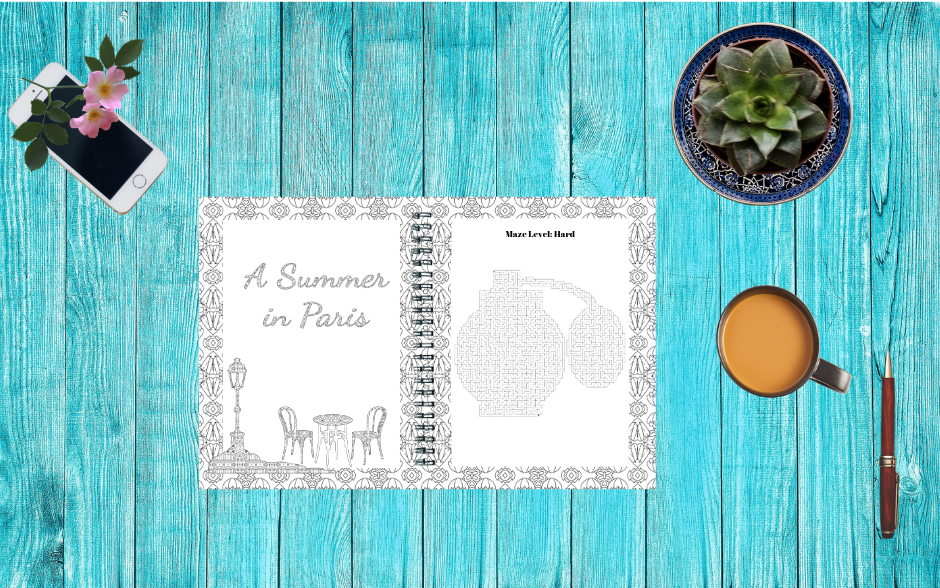 Summer in Paris Activity Book Creation Kit Image