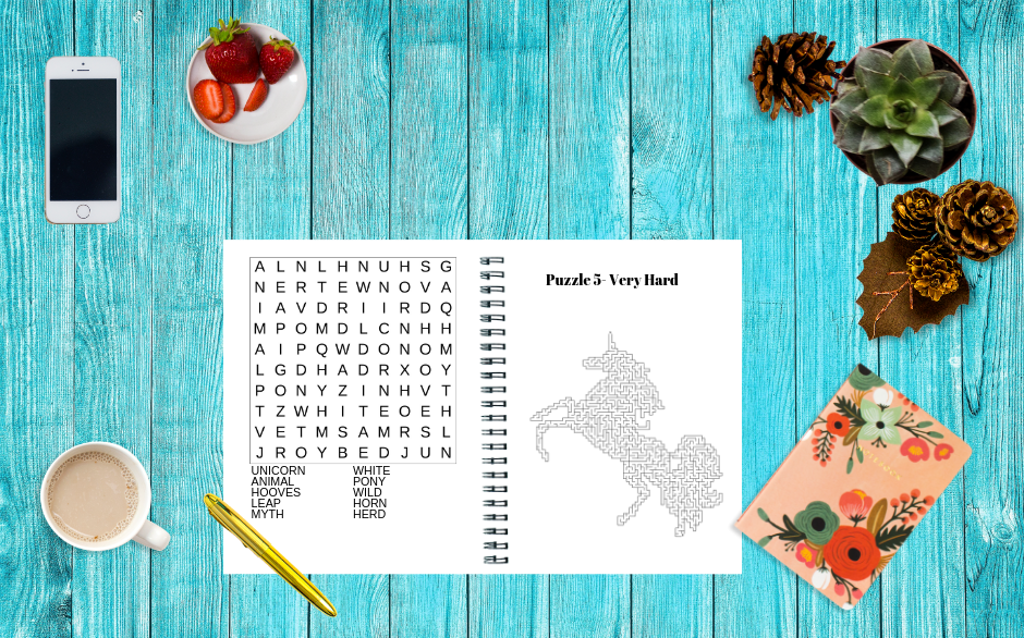 Unicorn Mazes and Word Searches Pack Image