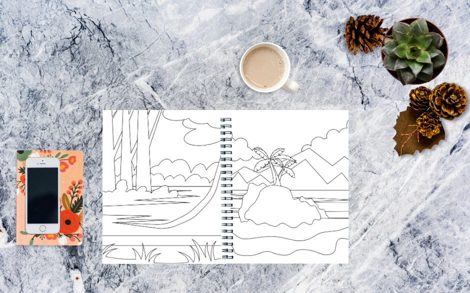 Coloring Book Backgrounds Variety Pack 1 Image