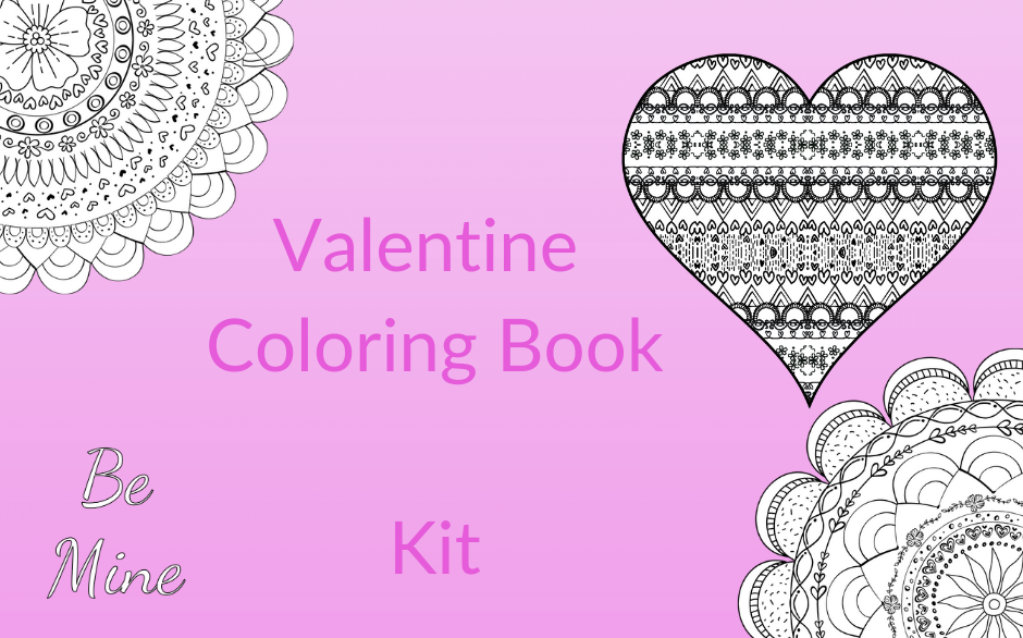 Valentine Coloring Book Kit Image