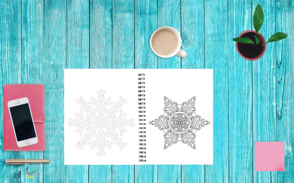 Snowflake Mandalas and Mazes Image