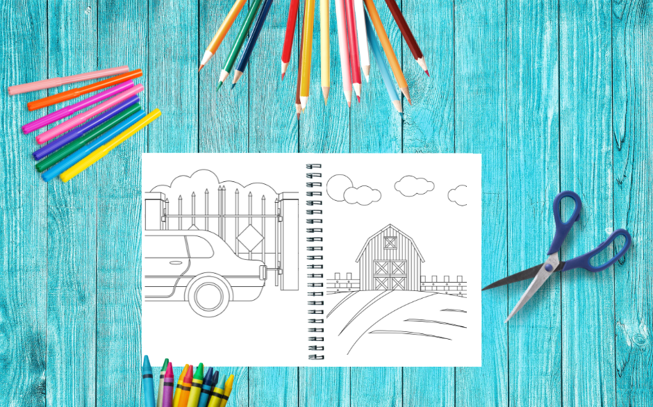 Coloring Book Backgrounds Variety Pack 2 Image