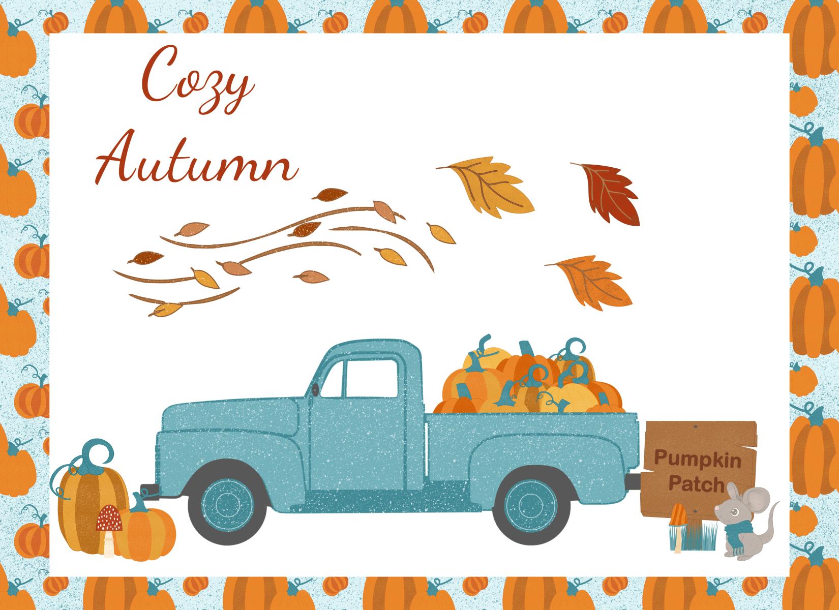 Cozy Autumn Color Graphics Image